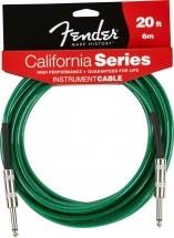 Fender California Serie Cable Pour Instrument 6m Vert