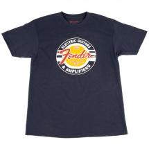 Fender Guitars And Amps Logo T-shirt Bleu Marine Xl