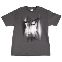Fender Airbrushed Strat T-shirt Gris L