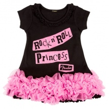 Fender Rock N\' Roll Princess- Robe Noire - 24 Mois