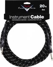 Fender Custom Shop Cable Pour Instrument 6m Coude Tweed Noir