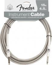 Fender Cable Instrument 60 Eme Anniversaire 4,5 M. Silver