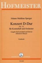 Sperger Johann Matthias - Konzert D-dur N°15 - Contrebasse and Piano