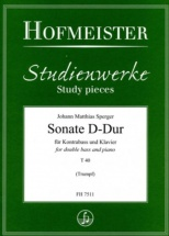 Sperger Johann Matthias - Sonate D-dur - Contrebasse and Piano