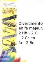 Fiala - Divertimento En Fa Majeur, 2 Hautbois - 2 Clarinettes - 2 Cr En Fa - 2 Bn