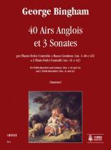 Bingham George - 40 Airs Anglois Et Trois Sonates - Flute A Bec Alto Et Continuo Ou 2 Flutes A Bec