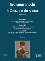 Picchi Giovanni - 3 Canzoni Da Sonar (venise 1625)