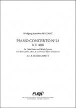 Mozart W.a. - Concerto Pour Piano No. 23 - Kv 488 - Quintette A Vent Et Piano