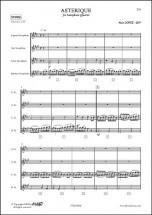 Lopez A. - Asterique - Quatuor De Saxophones