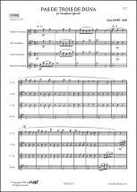 Lopez A. - Pas De Trois De Duna - Quatuor De Saxophones