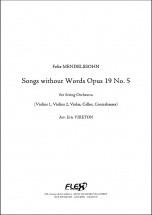 Mendelssohn F. - Romances Sans Paroles Opus 19 No. 5 - Orchestre A Cordes