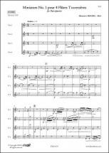 Libourel S. - Miniature No. 1 - Quatuor De Flutes