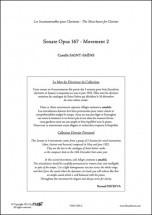 Saint-saens C. - Sonate Opus 167 - Mvt 2 - Clarinette Et Piano