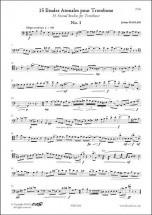 Naulais J. - 15 Etudes Atonales - Trombone Solo