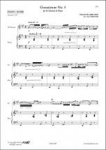 Satie E. - Gnossienne No. 5 - Clarinette & Piano