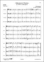 Anonymous - Adoramus Te Domine - Quatuor De Trombones