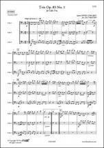 Hook J. - Trio Opus 83 No. 1 - Trio De Violoncelles
