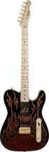 Fender James Burton Telecaster Touche Erable Red Paisley Flames