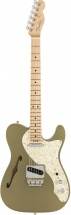 Fender American Elite Telecaster Thinline Mn Satin Jade Pearl Metallic