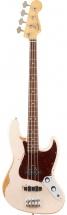 Fender Mexican Flea Jazz Bass Rw Roadworn Shell Pink + Housse