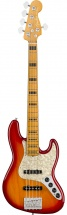 Fender American Ultra Jazz Bass V Mn Plasma Red Burst
