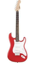 Squier By Fender Stratocaster Sss Fiesta Red Bullet Hardtail