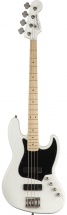 Squier By Fender Contemporary Active Jazz Bass Hh Maple Fingerboard Flat White