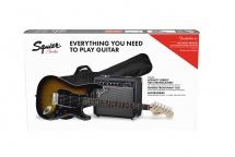 Squier By Fender Affinity Series Stratocaster Hss Pack Laurel Fingerboard Brown Sunburst Gig Bag 15g - 230v Eu