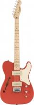 Squier By Fender Paranormal Cabronita Telecaster Thinline Mn Fiesta Red