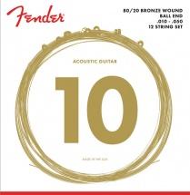 Fender 80/20 Bronze, à Boule, 70-par 12l Tirant .010-.050, (par 12)