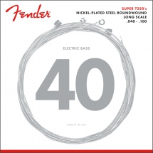 Fender Par 7250 , Nickel Plated Steel, Long Scale, Par 7250l .040-.100, (jeu De 4 Cordes)