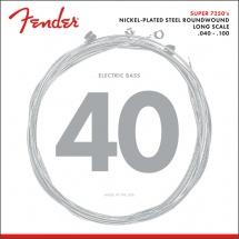 Fender Par 7250 , Nickel Plated Steel, Long Scale, Par 7250l .040-.100, (jeu De 4 Cordes)