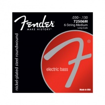 Fender Par 7250 , Nickel Plated Steel, Long Scale, Par 7250-6 .030-.130, (jeu De 6 Cordes)