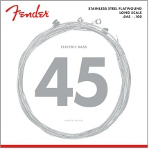 Fender Stainless 9050\'s , Stainless Steel Flatwound, 9050l .045-.100 Tirant, (jeu De 4 Cordes)