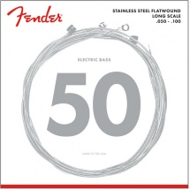 Fender Stainless 9050\'s , Stainless Steel Flatwound, 9050ml .050-.100 Tirant, (jeu De 4 Cordes)