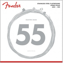 Fender Stainless 9050\'s , Stainless Steel Flatwound, 9050m .055-.105 Tirant, (jeu De 4 Cordes)