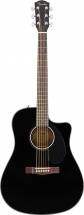 Fender Cd-60sce Dreadnought Walnut Fingerboard Black