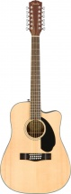 Fender Cd-60sce Dreadnought 12-string Walnut Fingerboard Natural