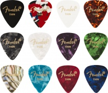 Fender 351 Shape Celluloid Medley Thin (12)