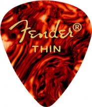 Fender Médiators Premium Forme Standard, Thin, Motif écaille, Par 12