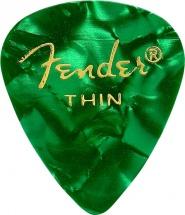 Fender Médiators Premium Forme Standard, Thin, Green Moto, Par 12