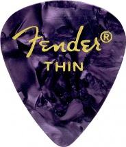 Fender Médiators Premium Forme Standard, Thin, Purple Moto, Par 12