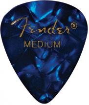 Fender Médiators Premium Forme Standard, Medium, Blue Moto, Par 12