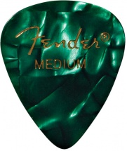 Fender Médiators Premium Forme Standard, Medium, Green Moto, Par 12