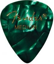 Fender Médiators Premium Forme Standard, Medium, Green Moto, Par 12