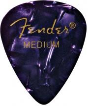 Fender Médiators Premium Forme Standard, Medium, Purple Moto, Par 12
