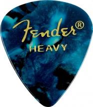 Fender Médiators Premium Forme Standard, Heavy, Ocean Turquoise, Par 12