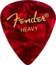 Fender Médiators Premium Forme Standard, Heavy, Red Moto, Par 12