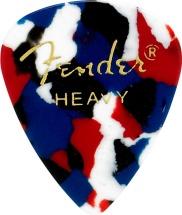 Fender Médiators Premium Forme Standard, Heavy, Confetti, Par 12