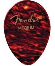 Fender Médiators Forme Goute, Motif écaille, Medium, Par 12
